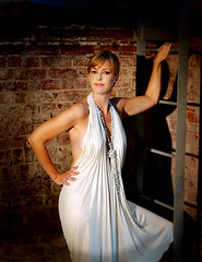 That's Some Dress (David Michael Fine Portraits) Tags: woman sexy beautiful fashion glamour dress curves style spotlight gown tadashi vneck platinumheartaward