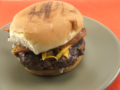 Bacon and Cheese Jalapeno Onion Burger