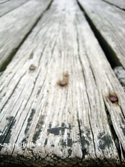 close up on the planks