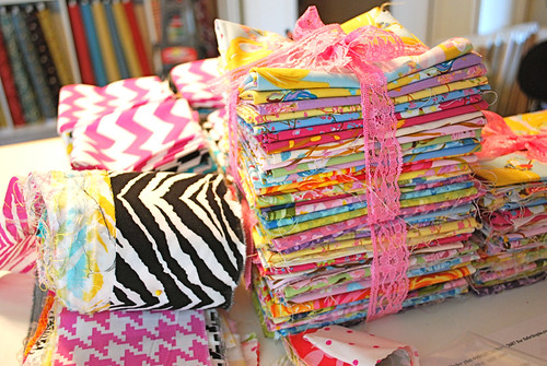 Fun stacks o' fabric