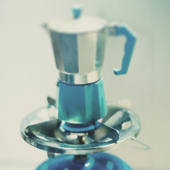 Brewing Moroccan coffee. (Ando : @_AndoPerez) Tags: blue hot coffee photoshop xpro turquoise tasty gas ring pot spices stove espresso spicy xprocessed dxpro moroccan boiling lightroom notsx70