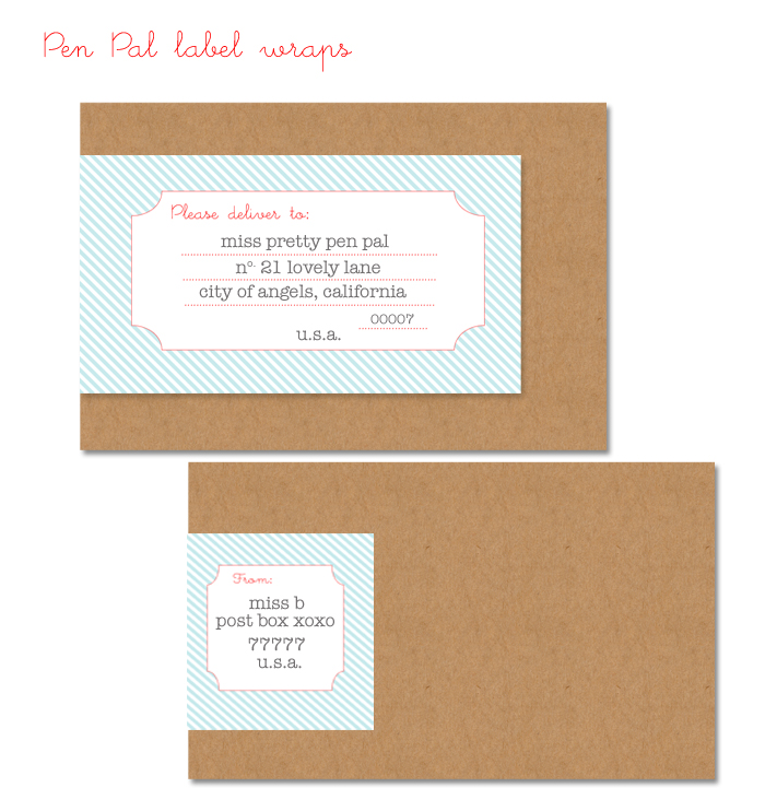pen pal label wraps