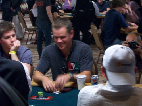 photo image of matt damon playing poker at a tournament