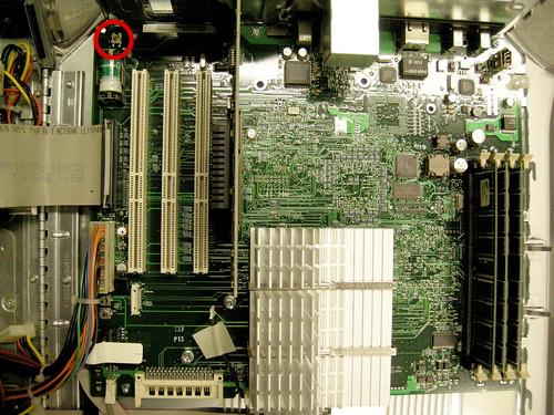 Power Macintosh G4 PMU Reset Button