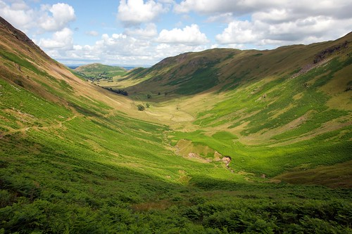 U shaped valley in the lake district