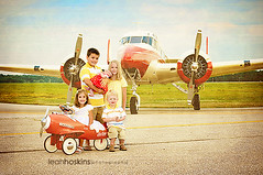 Vintage Flyer  {explored} (*miss*leah*) Tags: red sky white texture vintage children airplane 50mm nikon grandpa grandchildren nostalgia restored nikond300 n90tt
