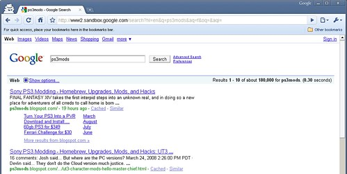 google sandbox search