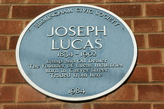 Photo of Joseph Lucas blue plaque