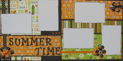 Summertime 2009 (JustScrappinHappy) Tags: summer scrapbooking sticker photos ribbon 365 embellishments prettyflowers etsyshop justdandy shessocrafty craftaday allthingsfun shesocraft