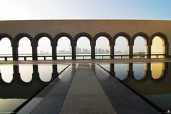 shadow, reflection and sun rays - museum of islamic arts (erickespinosa) Tags: building fountain museum canon funny candid joke arts snap architect mia obama sophia souq islamic doha impei aerialdance waqif museumofislamicarts