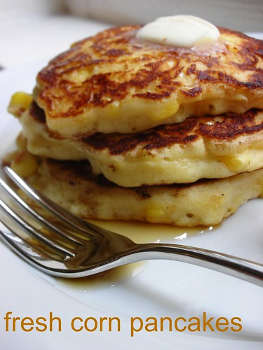 Fresh Corn Pancakes | a whisk and a spoon