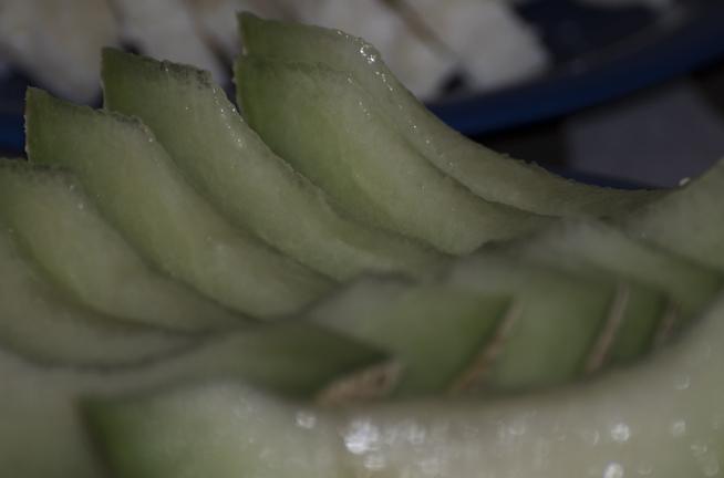 Smarrig melon.