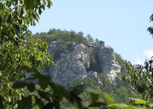 Long view of the rock