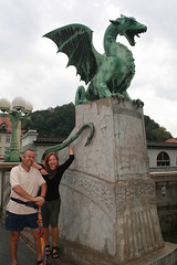 Peter, Jo, and One of the Dragons