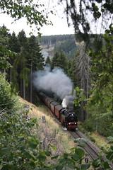 Altbau loc 99 222 met trein 8939 (kevinpiket) Tags: railroad railway trains steam harz dampflok treinen steamlocomotive hsb canon30d zuge harzersmalspurbahnen drangethal