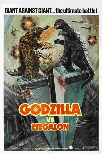 godzilla versus megalon USA poster