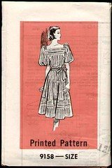 Marian Martin 9158 1980 Dress (cemetarian) Tags: pattern dress martin sewing 1980 marian 9158