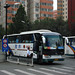[Coaches in Beijing]大金龙 King Long 龙威 Majesty of Dragon XMQ6129Y2 北京巴士旅游 Beijing Bus Travel #94989 Front-right at Renmin University of China