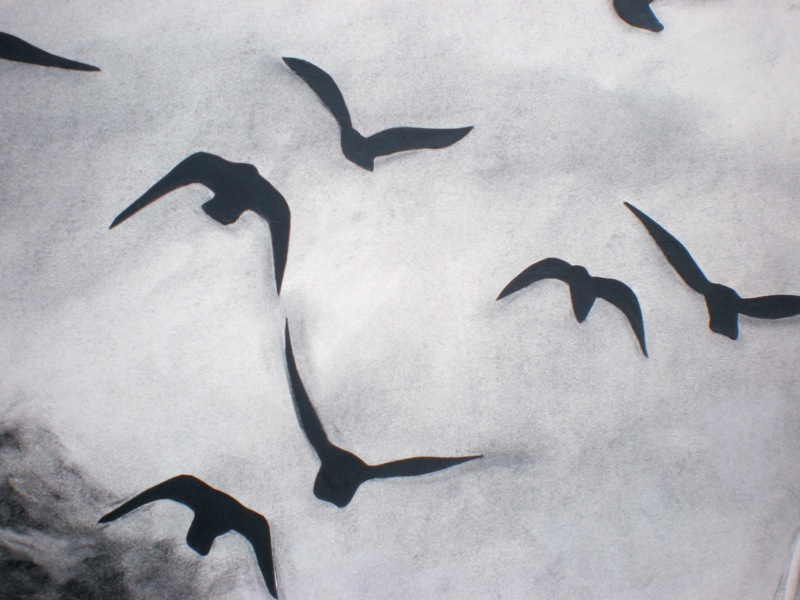 Birds (Over a Cornfield) - detail