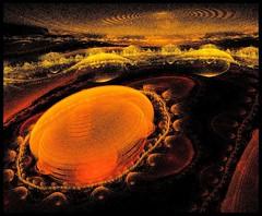 Storm on Jupiter (Lyle58) Tags: orange abstract surreal fantasy ethereal fractal apophysis allrightsreserved lyle58