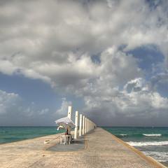 watching the infinite@Tulum.Mexico (rinogas) Tags: sea clouds mexico nikon nuvole mare tulum hdr messico mywinners abigfave rinogas platinumpeaceaward quintanarao