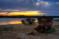 Brands Bay Wreck, Studland, Dorset (again!) (ryme-intrinseca, Facebook - BeckyStaresPhotography) Tags: old sunset sea sky seascape abandoned water coast boat high ship dynamic harbour decay neglected rusty dorset wreck range derelict hdr poole purbeck studland unused photomatix