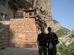 Emile and Karl (Emile Obsidian Ong) Tags: china karl emile hangingmonastery