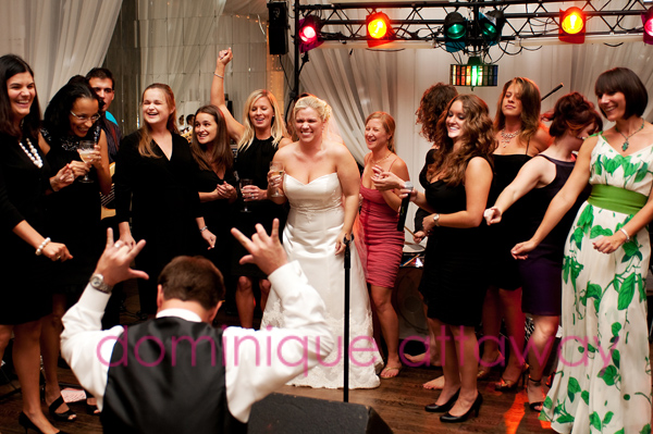 bridal party partying