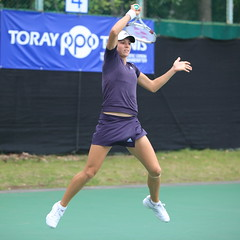 Maria Kirilenko in the air!