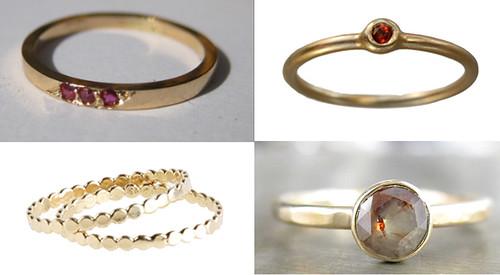 Elegant everyday rings