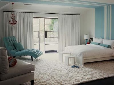 modern blue bdrm from houzz.com