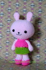 Amigurumi bunny (K and J Dolls) Tags: pink rabbit animal doll konijn conejo patterns crochet amigurumi geschenk muster disegno lapin patron kaninchen anleitung motivo croch hkeln patrn ganchillo uncinetto gurumi crochetpattern hkelanleitung amigurumirabbit amigurumianimal