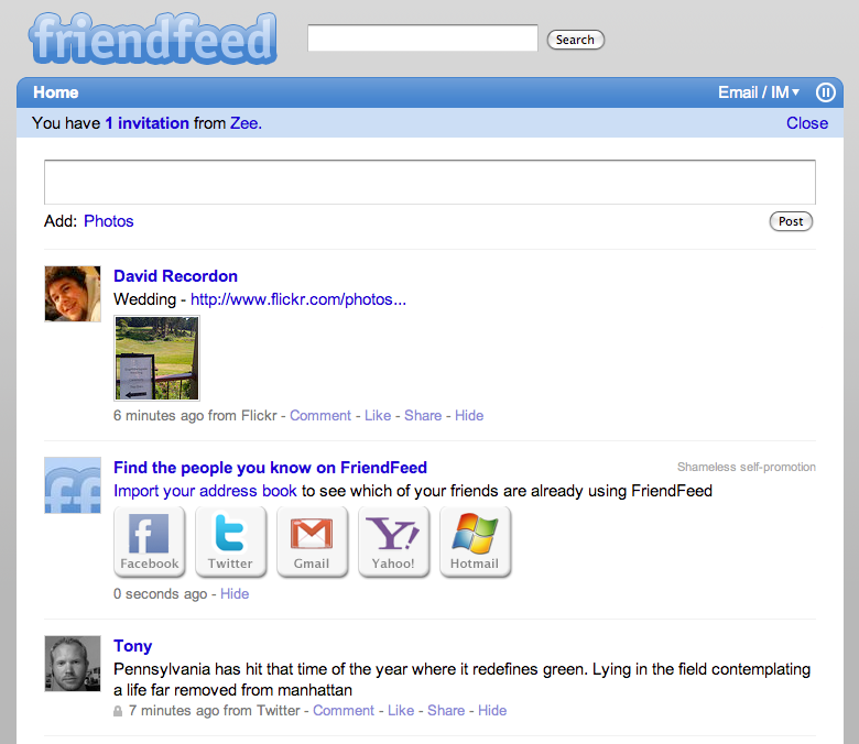 FriendFeed: Find people you know
