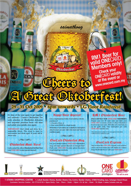 Cheers to A Great Oktoberfest @ 1 Utama
