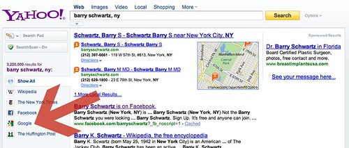 Google Results on Yahoo Search
