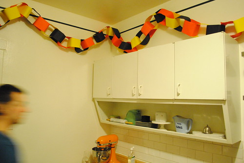 Kitchen with Halloween Paper Chain
