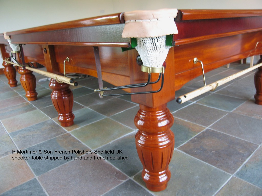 snooker table restoration & repairs Sheffield R Mortimer & Son french polishers Sheffield