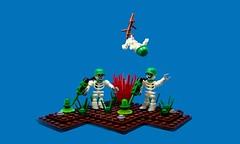 Undead Minesweepers... (Karf Oohlu) Tags: skeleton lego undead vignette minesweeper moc