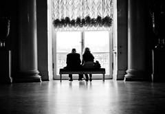 The window I (mfellnerphoto) Tags: bw window stpetersburg couple russia fenster paar sw russland winterpalast erimetage ringexcellence winterspalace