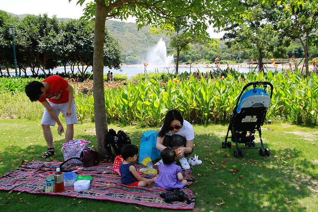 Picnic at Inspiration Lake