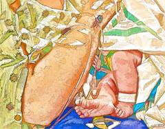 A Pair of Tiny Feet (Jeff Clow) Tags: baby hospital infant toes raw nursery birth mother photoart 1exp jeffrclow