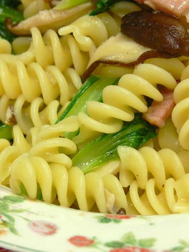 小松菜のオイルソースパスタ