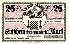 Stroebeck, 25 pf, 1921 (Iliazd) Tags: chess inflation notgeld germaninflationarycurrency emergencymoney 19171923 germanpapermoney