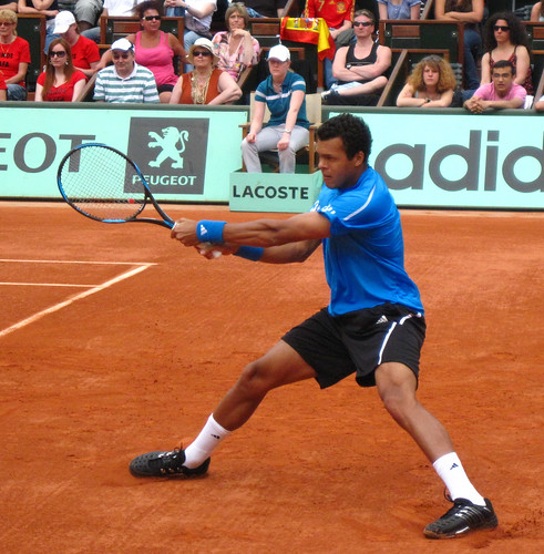 Jo-Wilfried Tsonga at Roland Garros