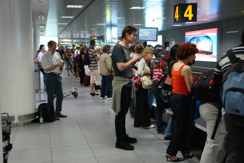 Airports will likely be a little backed up for New Years travel. Image from Flickr.