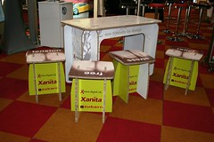 X-Board - branded table and chairs