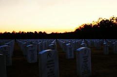 Some gave all. (7austins) Tags: county sunset silhouette thankyou military headstone cemetary national cherokee sly sacrifice somegaveall