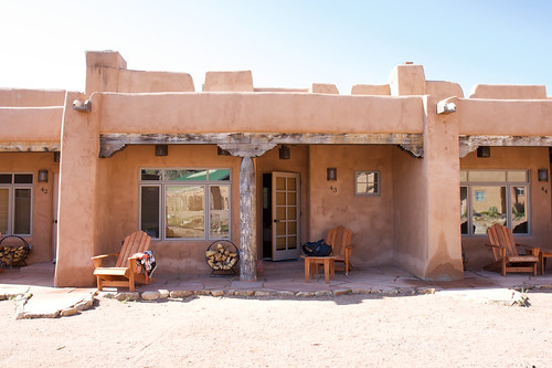 The back of our cottage in Ojo Caliente