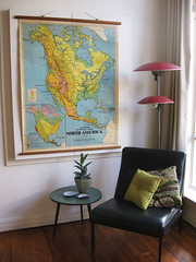 map nook (neryl walker) Tags: lamp vintage chair map interior