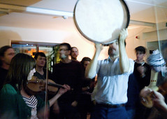 Playing the Drum (stephanie_rose_wood) Tags: cornwall drum livemusic violin falmouth penryn ahawkandahacksaw misspeapods lonorecords